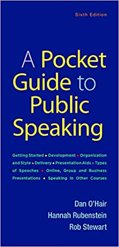 A Pocket Guide to Public Speaking Sixth Edition