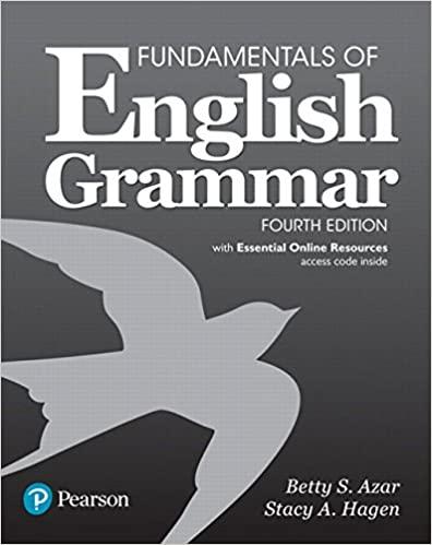 Fundamentals of English Grammar with Essential Online Resources